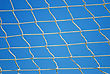 Valleyball Net Strings Over Blue Sky Background stock image