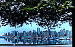 Vancouver Skyline Canada Downtown West End City stock image