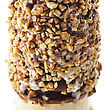 Vanilla And Chocolate Ice Cream With Nuts stock image