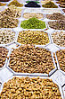 Varieties Of Nuts: Peanuts, Hazelnuts, Chestnuts, Walnuts, Pistachio And Pecans. Food And Cuisine