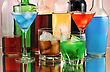 Variety Of Alcoholic Drinks , Close Up stock photo