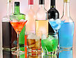 Variety Of Alcoholic Drinks , Close Up stock photography