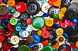 Variety Of Multi-colored Old Buttons stock photography