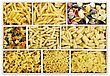 Various Dried Pasta stock photography