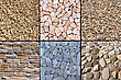 Various Natural Materials For Coating A Driveway, Path Or Trail Ride stock photo