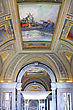 Baroque Vatican Museums - Gallerys Of Vatican. Italy, Rome stock photography
