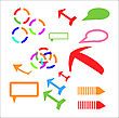 Arrows Set Different Isometric Arrow Sign And Design Elements