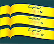 Vector Bright Yellow Banners Or Ribbons Set