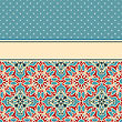 Card With Seamless Floral Wallpaper Pattern , Fully Editable Eps 8 File,seamless Patterns In Swatch Menu