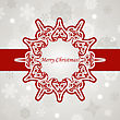 Christmas Greeting Card With Snowflakes, Place For Your Text, Fully Editable Eps 8 File