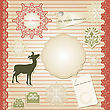 Christmas Scrapbook Design Template, Seamless Lacy Brushes Included, Fully Editable Eps 10 File With Transparency Effects, Standart AI Fonts
