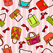 Collection Of Woman's Accessories. Seamless Wallpaper.
