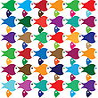 Color Fish Abstract Pattern Background stock illustration