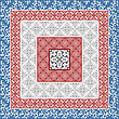 Floral Paterns, Can Be Used As Seamless Pattern Or As Square Separate Frames, Seamless Patterns In Swatch Menu