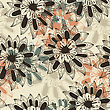 Floral Seamless Pattern, Fully Editable Eps 8 File With Clipping Mask And Pattern In Swatch Menu, Elements Can Be Used Separately