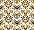 Hand Drawn Floral Seamless Pattern, Seamless Pattern In Swatch Menu, Fully Editable Eps 8 File