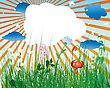 Grass Background With Copy Space stock illustration