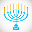 Vector Illustration Of Hanukkah, Jewish Holiday. Hanukkah Menora With Candles stock vector