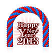 Happy New Year 2013 With Balloons