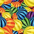 Many Colorful Balls Seamless Pattern stock vector
