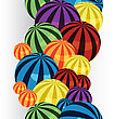 Many Colorful Balls Vertical Seamless Border