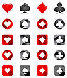 Vector Illustration Of Playing Card Suits. Icons Set On White Background stock vector