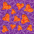 Purple Leave Cut Out Of Paper Seamless Background