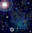 Snowflakes Stars Light Abstract Background
