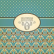 Invitation Card With Seamless Floral Wallpaper Pattern , Fully Editable Eps 10 File,seamless Patterns In Swatch Menu