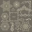Lacy Vintage Floral Design Elements, Fully Editable Eps 8 File