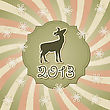 New Year Greeting Card With Deer, Fully Editable Eps 10 File With Transparency Effects, Standart AI Fonts