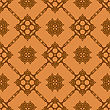Vector Orange Ornamental Seamless Line Pattern. Endless Texture. Oriental Geometric Ornament