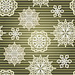 Seamless Background With Paper Cut Snowflakes, Eps 10 File With Clipping Mask And Transparency Effects