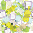Seamless Background Watercolor Jars And Bottles stock vector