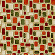 Seamless Christmas Retro Pattern On Crumpled Paper Texture, Seamless Pattern On Swatch Menu