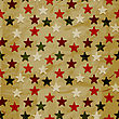 Seamless Christmas Retro Pattern On Crumpled Paper Texture, Eps 10 Transparency Effects, Seamless Pattern In Swatch Menu