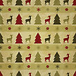 Seamless Christmas Winter Pattern With Fir Trees, Deers, And Snowflakes On Crumpled Paper Texture, Eps 10 Transparency Effects, Seamless Pattern Without Transparency In Swatch Menu