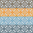 Seamless Floral Borders, Differect Colors, Seamless Patterns In Swatch Menu