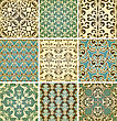 Seamless Floral Paterns, Fully Editable Eps10 File, Seamless Patterns In Swatch Menu