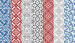Seamless Floral Paterns, Seamless Patterns In Swatch Menu