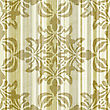 Seamless Floral Pattern On Crumpled Striped Paper