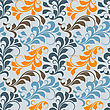 Seamless Floral Pattern,fully Editable Eps 8 File With Clipping Masks, Seamless Pattern In Swatch Menu stock illustration