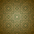 Seamless Floral Pattern On Grungy Background With Crumpled Paper Texture