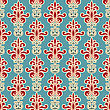 Seamless Floral Wallpaper Pattern, Fully Editable Eps 8 File,seamless Pattern In Swatch Menu stock illustration