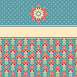 Seamless Floral Wallpaper Pattern On Gradient Background, Fully Editable Eps 8 File,seamless Patterns In Swatch Menu stock vector