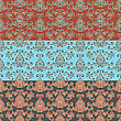 Seamless Oriental Style Wallpaper Pattern, Fully Editable Eps 8 File,seamless Patterns In Swatch Menu