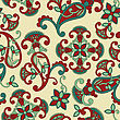 Turquoise Vector Seamless Paisley Pattern, Can Be Used As Texlile Or Wrapping Paper, Seamless Pattern In Swqatch Menu stock illustration