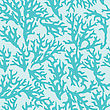 Vector Seamless Pattern With Blue Coral. Good For Textile, Wallpapers, Paper For Art And Craft