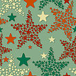 Seamless Pattern With Christmas Stars, Eps 8