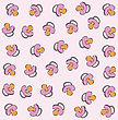 Vector Seamless Pattern With Pink Baby Pacifier stock illustration